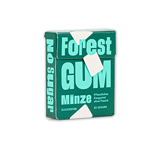 Pflanzlicher Minz Kaugummi - aus natürlichen Zutaten, ohne Zucker und ohne Plastik, Vegan (20g)