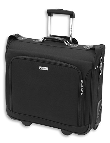 London Fog Buckingham 44' Wheeled Garment Bag, Black, One Size