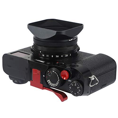 Haoge LH-X200B Square Metal Lens Hood with 49mm Adapter Ring Metal Cap...