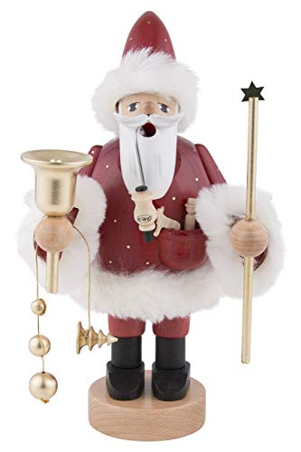 KWO Red Santa German Christmas Incense Smoker Handcrafted in Erzgebirge Germany