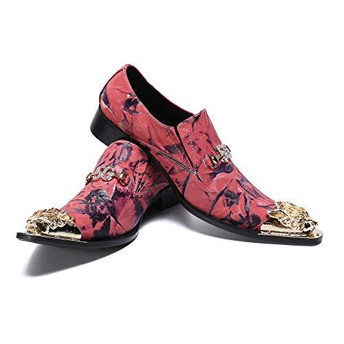 JFSKD Zapatos Formales de Hombre, Vestido Informal de Negocios de Moda Juvenil...