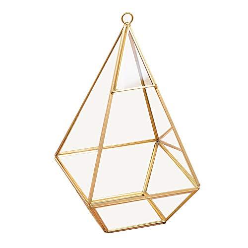 Ahagut Schmuckschatulle Glas Terrarium Box Pflanzenbehälter flanzenbehälter Geometrisch Deko Glas Blumen Topf