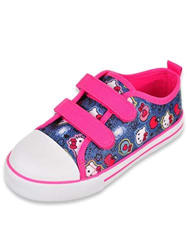 Hello Kitty Girls' Sneakers - Denim Blue, 6 Toddler