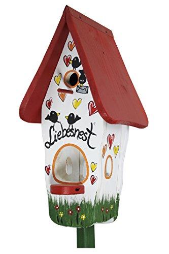 Die Vogelvilla, Minivilla Spezial Liebesnest Brief, Vogelhaus & Nistkasten, 2in1, Weiss