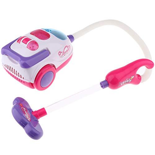 Toygogo Elektrischer Staubsauger mit Funktion, Kinderspielzeug Staubsauger mit Sound & Lichter