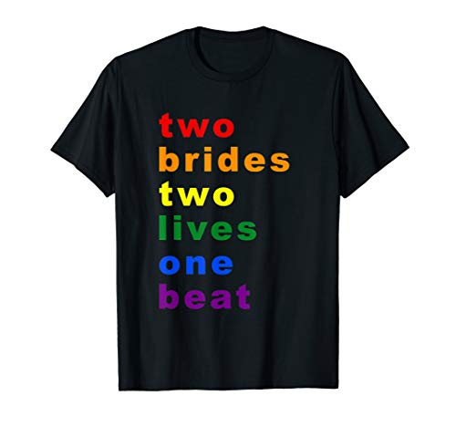 Lesbian Bachelorette Party Engaged Newlywed Gay Bride Gift T-Shirt