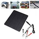 Fine 20W Solar Panel,Car Battery Charger, Portable Solar Panel,12V / 5V Battery Charger for RV Boat, Car, Caravan (with Alligator...