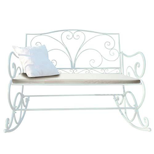 Mendler Polsterauflage für Schaukelbank HWC-C39, Gartenbankauflage Sitzkissen Sitzpolster, Creme