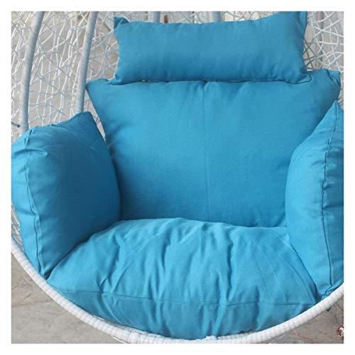 DYYD cojín de la Silla del Huevo Cojín de algodón/oscilación Colgante Huevo Hamaca Cesta Cojín/Cojín Sola Rattan Silla, extraíble y Lavable (Color : Blue)
