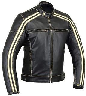 64d920bd Australian Bikers Gear Retro Style 'The Bonnie' - Chaqueta de moto, Negro /