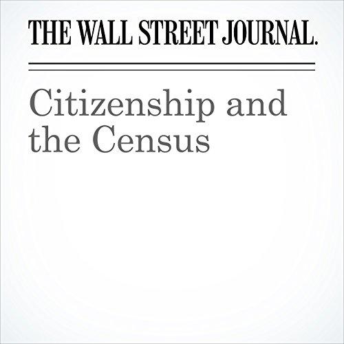Citizenship and the Census copertina
