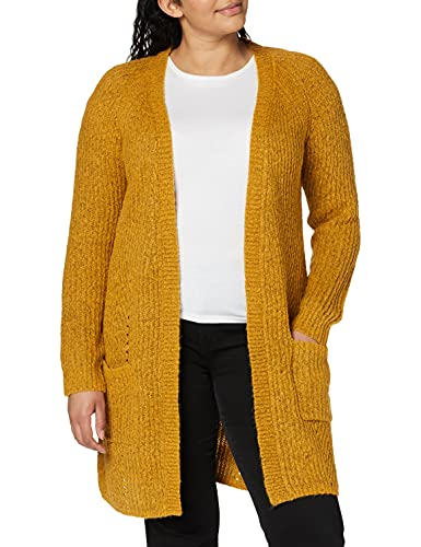 Only Onlbernice L/s Cardigan Knt Noos Chaqueta Punto, Multicolor (Golden Glow Detail: W.Melange), X-Small para Mujer