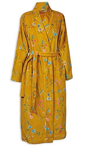 PIP Studio Les Fleurs Bademantel Farbe Gelb Größe XXL Morgenmantel Kimono Damen-Bademantel