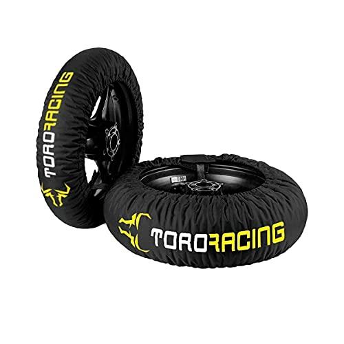"""Toro Racing Calentadores de Neumáticos para Moto DRURY (120-190) -17"""" – Negro/Fluor, Cubierta Delantera de 120 y Trasera de 160/180/190/200, Enchufe 220 V Temperatura única, Motocross, Supermotard"""