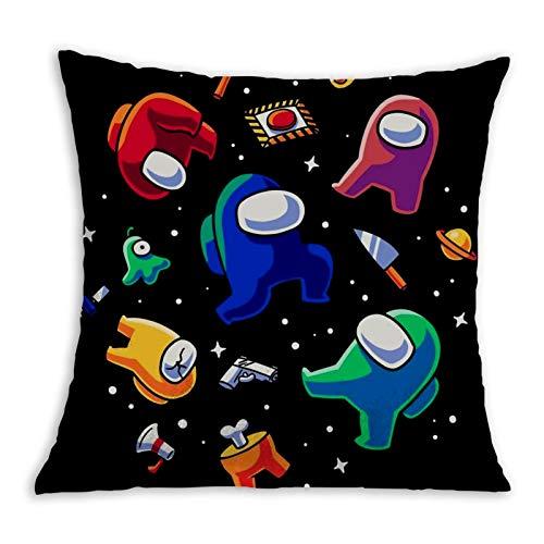 aiyuheping Kawaii Among Us Imposter, funda de almohada decorativa con gráficos 3D para sofá dormitorio 45,7 x 45,7 cm