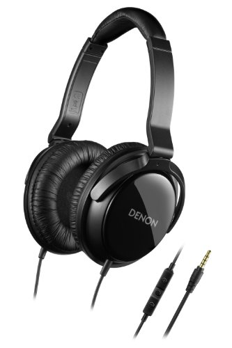 Denon AH-D310R Mobile Elite Over-Ear Headphones with 3 Button Remote and Mic (Black) (Discontinued by Manufacturer)
