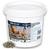 Chick'N Deluxe®GRIT DELUXE 5Kg.Complemento alimenticio para palomas/aves de corral.Mezcla de minerales carbón activado y enriquecido con anís para una perfecta digestión.Fortalece la cáscara del huevo