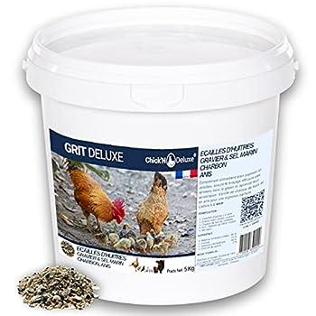 Chick'N Deluxe® GRIT DELUXE 5Kg. Complément Alimentaire pour pigeons/volailles. Mélange de minéraux, charbon actif et enrichi l'anis pour une digestion parfaite. Renforce aussi la coquille d'oeuf.