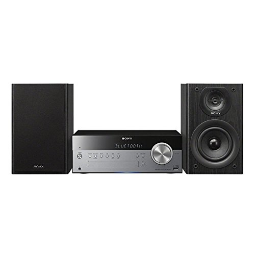 Sony CMTSBT100.CEL Micro-HiFi System (50 Watt, CD-Player, FM/AM, Bluetooth, NFC, USB) schwarz