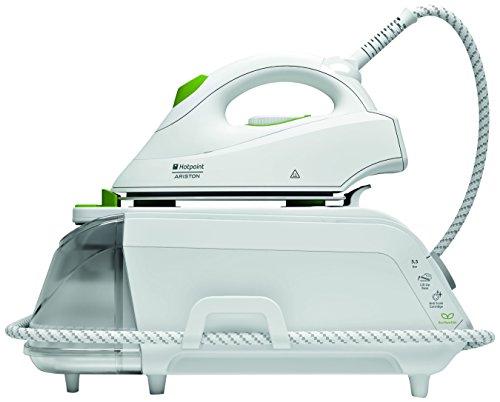 Hotpoint SG C11CKG Hierro de planchar a Caldera, 2100W, 1litro, blanco/verde