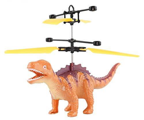 Fliegender Dinosaurier - Flugsaurier - Fiegender Drache (Braun) Rc Hubschrauber Neuheit 2019 Einfach zu Steuern per Handbewegung Ein super Geschenk für Dino Fans Mini Drohne