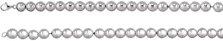 10mm Bead 8 Bracelet in Sterling Silver