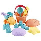 PHYNEDI Set de Arena con Cubo de Playa Niños 14 Piezas Juguetes de Playa para Bebé +18 Meses