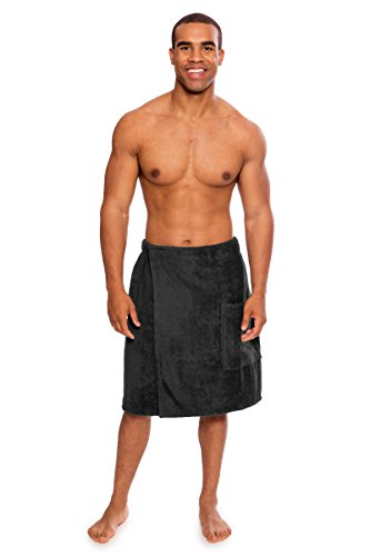 Men's Terry Cloth Spa Wrap - Comfortable Spa Gift for Him by Texere (Forestcalm)