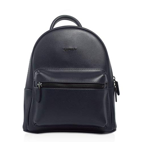 Women's Navy Blue Backpack Women's and Girl's Backpack Faux Leather Top Backpack School Mini Backpack