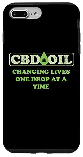 iPhone 7 Plus/8 Plus CBD Oil Changing Lives One Drop At A Time Hemp Slogan Gift Case