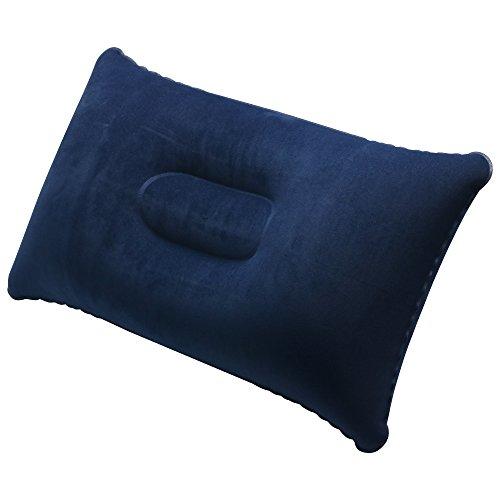 TRIXES Cuscino poggiatesta Gonfiabile Blu Navy, per Il Viaggio, Il Campeggio
