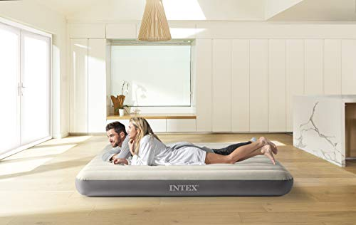 Intex - Colchón hinchable Dura-Beam Standard DELUXE Single-High - 152 x 203...