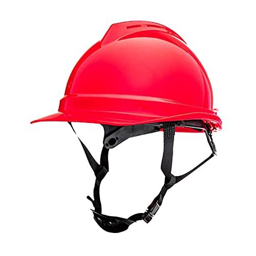 #N/A/a Casco de construcción de plástico para adultos, casco de ingeniero, constructor de seguridad, trabajador de escalada, protección para la cabeza, rojo