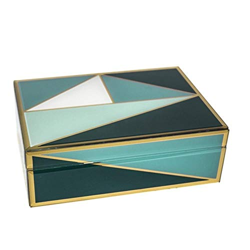 8.25 x 6.25 x 4 Inches Purple//White Sagebrook Home 13350-02 MDF Box