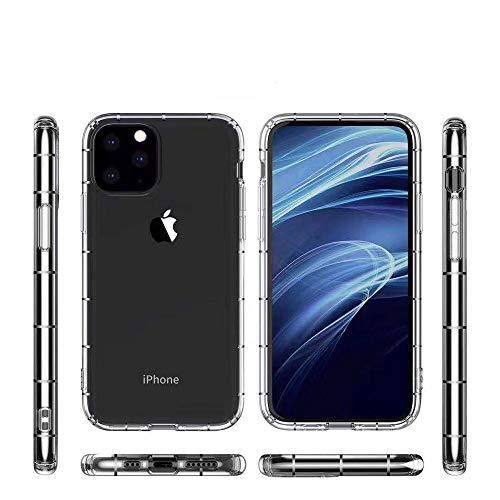 Phone For iPhone Pro 11 Cuatro Side-grueso del caso de TPU transparente gota de teléfono a prueba de presión de aire (transparente) tacto suave y Aseguramiento de la Calidad ( Color : Transparent )