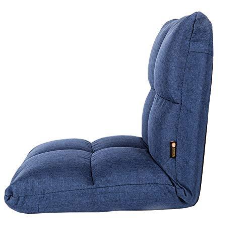 LJFYXZ Chaise de Sol Simplicité Moderne Réglage à 6 Vitesses Facile à enlever et à Laver Confortable et Respirant Balcon de la Chambre Petit canapé (Couleur : Bleu)