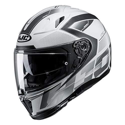 Casque moto HJC i70 ASTO MC5, Blanc/Argent, L