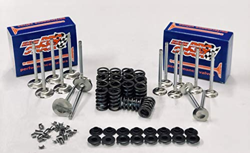 1.94' & 1.5' Stainless Steel Valve Kit including Z28 Springs & Retainers compatible with Chevy sb 400 350 327 (1.940'/1.50' Hd dia.)