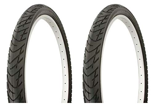 Lowrider Tire Set. 2 Tires. Two Tires Duro 26' x 2.125' Black/Black Side Wall DB-1012. Bicycle Tires, Bike Tires, Beach Cruiser Bike Tires, Cruiser Bike Tires
