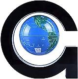 THj Globo de Mapa del Mundo Flotante de levitación magnética con Base, lámpara de luz LED antigravedad de Bola giratoria de Globo terráqueo de 4'- Decoración de Escritorio de Oficina en casa