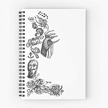 Spiral Lady Tattoos Gaga Cute School Five Star Spiral Notebook With Durable Print