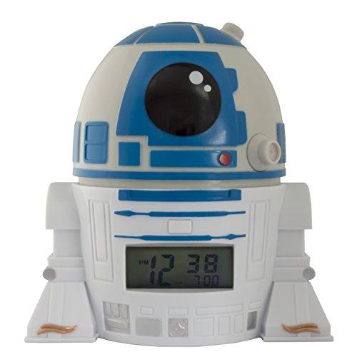 BulbBotz Despertador Infantil R2D2, Blanco, 8.89x12.7x13.97 cm, 2021401