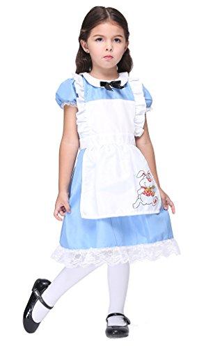 Bigood Costumes Déguisement Cospaly Maid Princesse pour Enfant Fille pour Halloween L