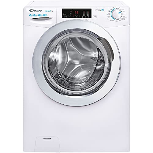 Candy Smart Pro CSO14103TWCE Free Standing Washing Machine, WiFi Connected, 10 kg Load, 1400 rpm, White