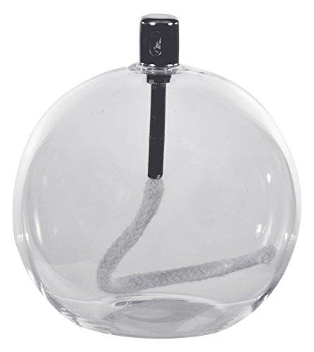 Witte Dino, Bal, Metaal en Glas Olie, Transparante Lamp (Helder), 15 x 15 x 16 cm
