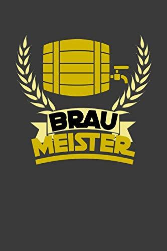 Brau Meister: Liniertes DinA 5 Notizbuch für Alkohol, Wein und Bier Fans Rotwein Weißwein Trinker Notizheft