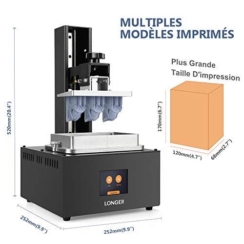 LONGER Orange 30 3D Drucker, Harz 3D Drucker mit Touchscreen, 2K-LCD-Bildschirm, Matrix-UV-LED, größeres Druckformat 12 cm (L) x 6,8 cm (B) x 17 cm (H) mit 250 g Harz - 3