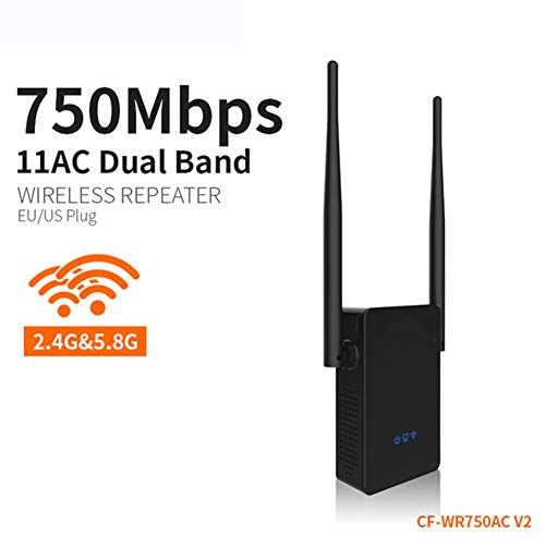 WUBAILI 750Mbps Dual Band Wireless Range Extender WLAN Repeater Home Reise Wireless Router-Signal-Verstärker-Signal-Verstärker AC-Signal-Verstärker,UKadapter