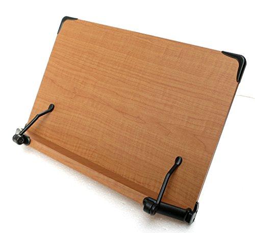 (2017年新型)見やすい角度に14段階調節 木製ブックスタンド 大きめサイズ(40×26.5cm)着脱式多用途(メーカー直輸入:日本語説明紙付き)