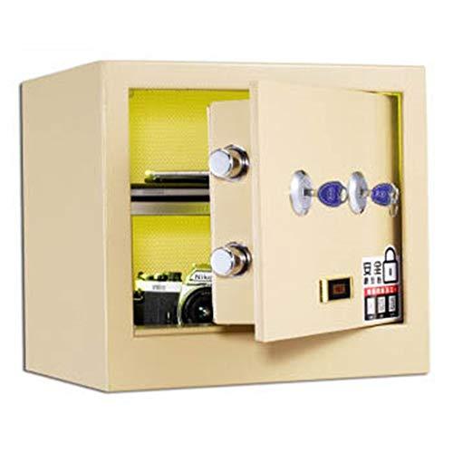 JenLn Caja Fuerte del Hotel Completamente de Acero Oficina de Seguridad del hogar Pequeño Seguridad Seguro mecánico de Bloqueo Locker los 36CM Alto Clave Doble Cajas Fuertes de gabinete